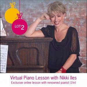Lot 2: Virtual Piano Lesson with Nikki Iles (1hr)