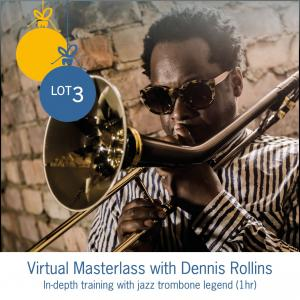 Lot 3: Virtual Jazz Masterclass with Dennis Rollins (1hr)