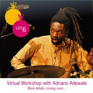 Lot 6: Virtual Percussion Workshop with Adriano Adewale